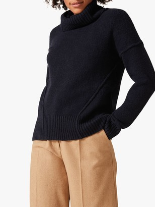 Phase Eight Saverine Exposed Seam Jumper, Navy