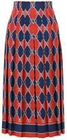 Gucci Rhombus Silk Midi Skirt