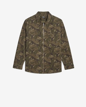 Express Camo Zip Shirt Jacket