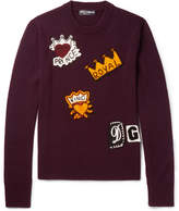 Dolce & Gabbana Crochet-Embellished Virgin Wool Sweater