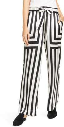 Frame Mixed Stripe Silk PJ Pants