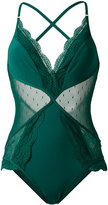 Zimmermann embroidered swimsuit - women - Polyamide/Spandex/Elastane - 0