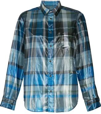 Toga Plaid Foil Shirt