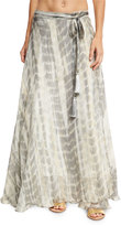 Flora Bella Sandals Tie-Dye Silk Maxi Skirt, Brown