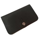 Hermes Black Leather Wallet