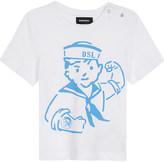 Diesel Sailor print cotton t-shirt 6-24 months