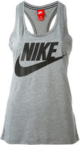 Nike logo print tank - women - Polyester/Modal - L