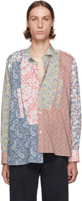 Loewe Multicolor Asymmetric Patchwork Shirt