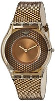 Swatch Women's SFC105 Skin Analog Display Swiss Quartz Brown Watch