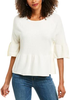 Revive Cashmere Peplum Cashmere Sweater