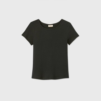 Cat & Jack Girls' Short Sleeve Rib-Knit T-Shirt - Cat & JackTM