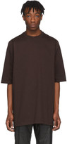 Rick Owens Burgundy Heavy Jersey T-Shirt