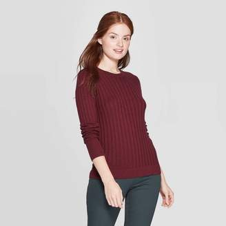 A New Day Women's Long Sleeve Ribbed Cuff Crewneck Pullover Sweater