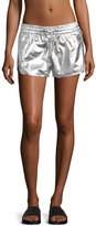 ALALA Fuel Metallic Athletic Shorts, Silver