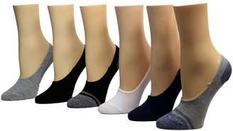 Betsey Johnson Ladies Foot Liner Socks, Pack of 6