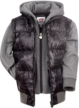 Appaman Boy's Turnstile Quilted Hooded Jacket, Size 2-14