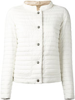 Herno buttoned puffer jacket - women - Feather Down/Polyamide/Polyurethane - 48
