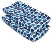 OILO Elefant Print 2-Pack Changing Pad Covers
