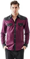 GUESS Long-Sleeve Contrast Western Slim-Fit Shirt