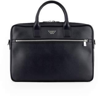 Emporio Armani Black Briefcase With Logo