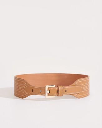 Veronica Beard Kiara Leather Waist Belt