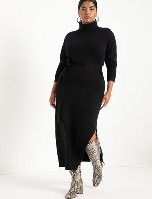 ELOQUII Funnel Neck Long Sweater Dress