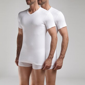 Dim Pack of 3 Ecodim T-Shirts with V-Neck in Cotton