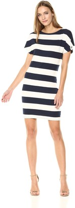 Three Dots Women's South Hampton Stripe Short Loose Dress