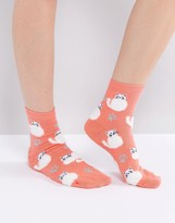 Asos Fluffy Cat Ankle Socks