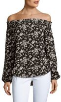 Eight Sixty Floral-Printed Off-The-Shoulder Top