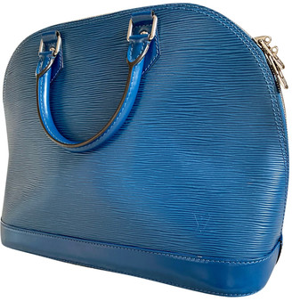 Louis Vuitton Alma Blue Leather Handbags