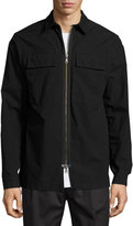 Helmut Lang Zip-Front Shirt Jacket, Black
