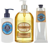 L'Occitane Almond Shower Gel, Shea Hand Cream& Body Lotion