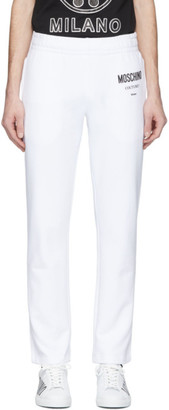 Moschino White Logo Lounge Pants