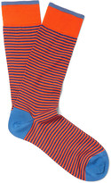 Marcoliani - Striped Pima Cotton-blend Socks