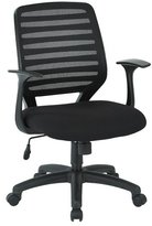 Office Star Mid-Back Mesh Desk Chair Arms: Included
