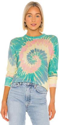 Autumn Cashmere Pinwheel Tie Dye Crew Sweatshirt