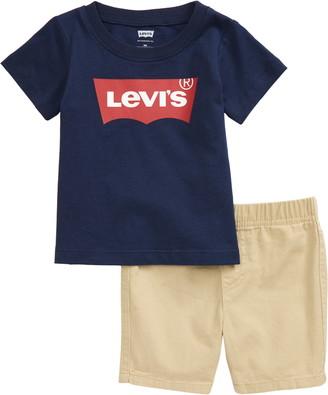 Levi's Logo T-Shirt & Shorts Set