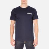 Carhartt Short Sleeve College Script Tshirt - Blue