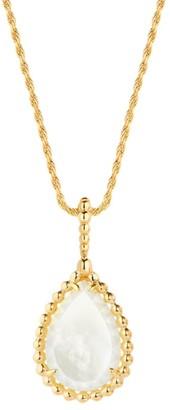 Boucheron Serpent Boheme 18K Yellow Gold & White Mother-Of-Pearl Pendant Necklace