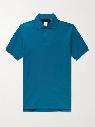 Paul Smith Webbing-Trimmed Cotton-Pique Polo Shirt