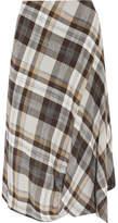 Vivienne Westwood Vasari Asymmetric Tartan Brushed-twill Skirt