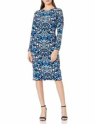 Maggy London Women's Blossom Flower Printed Crepe Sheath