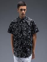 Stampd Black Calf Hair Underprint Button Down Shirt