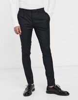 Asos Design DESIGN smart super skinny trousers in black