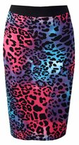 Forever Womens Aztec Polka Dot Tribal Printed Pencil Skirt