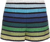 Sonia Rykiel Striped cotton-blend tweed shorts