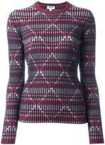 Kenzo striped intarsia jumper - women - Wool - L
