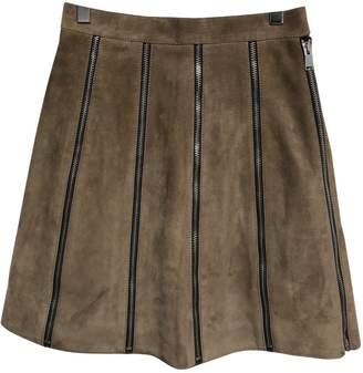 Saint Laurent Camel Suede Skirt for Women