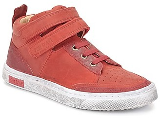 Pom D'Api BACK BASKET girls's Shoes (High-top Trainers) in Red